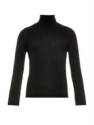Roll-neck wool-knit sweater