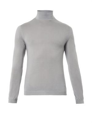 Roll-neck cashmere sweater