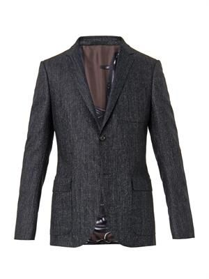 Dylan micro-tweed wool blazer
