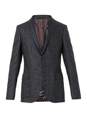 Dylan micro-tweed wool blazer