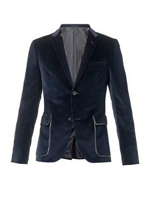 Two button velvet blazer