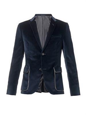 Two button velvet blazer