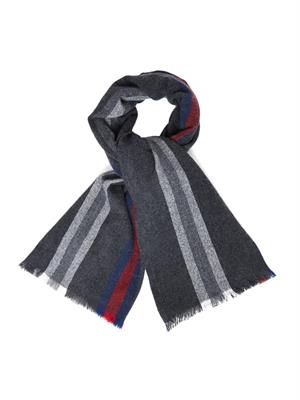 Striped wool and cashmere-blend scarf