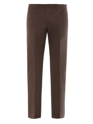 Slim leg cotton chinos