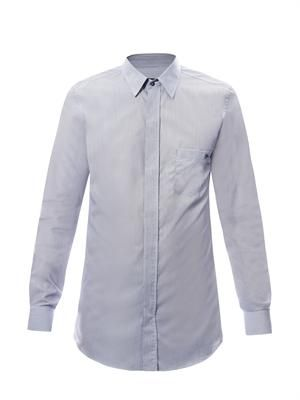 Fine stripe classic-fit shirt