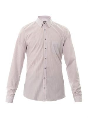 Striped slim-fit shirt