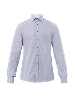 Fitted micro-stripe shirt