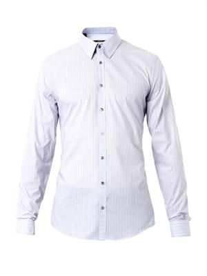 Skinny-stripe slim-fit shirt