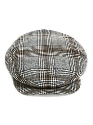 Big check flat cap