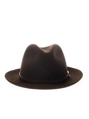 Fedora rabbit-felt hat