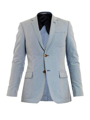 Dylan cotton stripe blazer