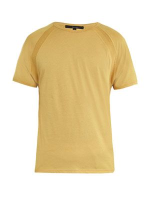 Shoulder detail crew-neck T-shirt
