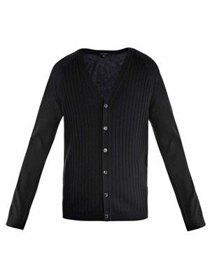 Cashmere wide ribbed cardigan