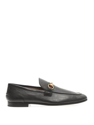Snaffle leather loafers