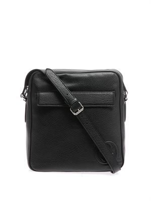 GG-stamp leather messenger