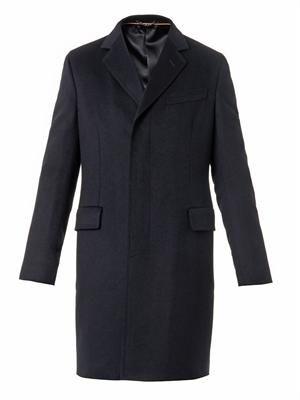 Contract notch-lapel wool coat