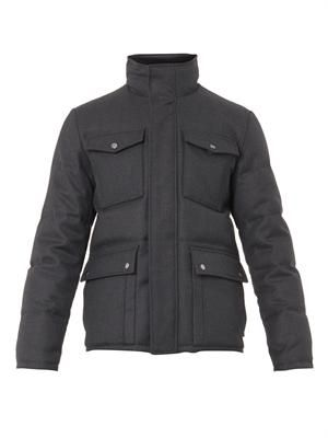 Wool-twill down field jacket