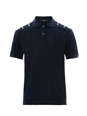 Contrast shoulder detail polo shirt