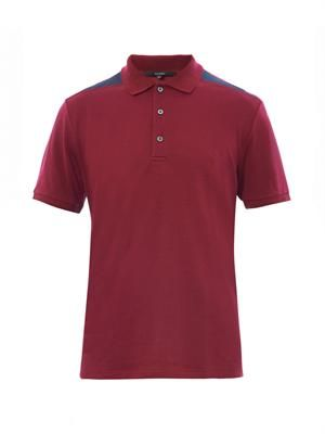 Contrast-shoulder polo shirt