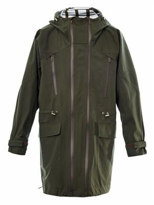 Technical hooded parka coat