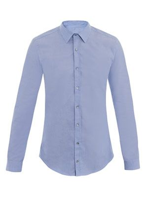 Solid slim-fit shirt
