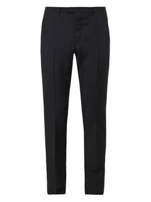 Slim-leg wool and mohair-blend trousers