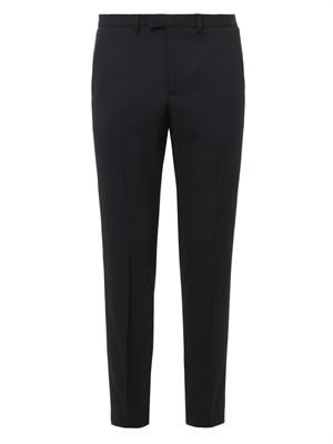 Slim-leg stretch-wool trousers
