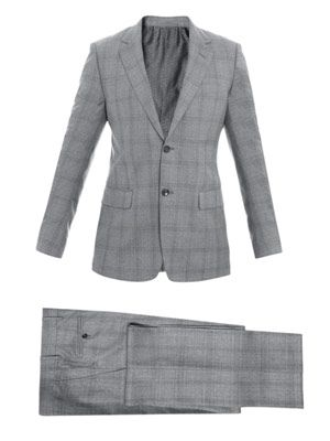 Subtle check suit