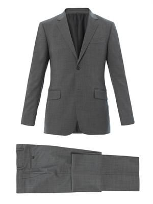 Brera sharkskin-wool suit