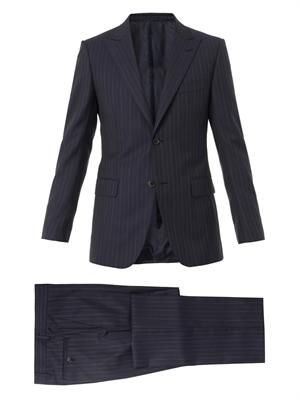 Brera single-breasted wool suit