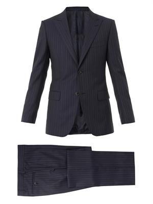 Brera single-breasted wool suit