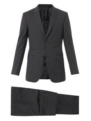Brera pinstripe wool-blend suit