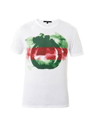 Watercolour logo-print T-shirt