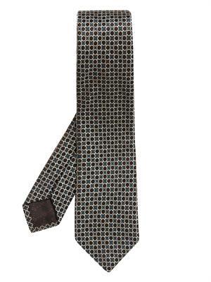 Horsebit-jacquard silk tie