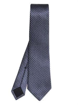 Micro-weave jacquard silk tie