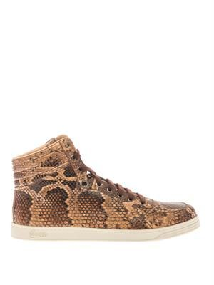 Python high-top trainers