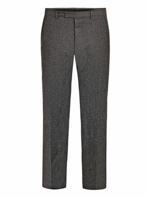 Flecked slim trousers