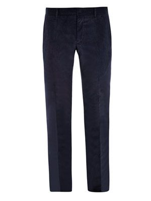 Slim-fit micro-corduroy trousers