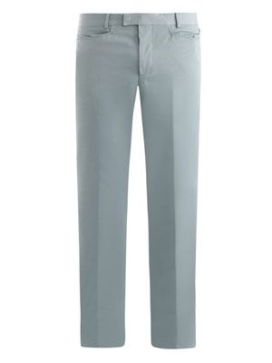 Cotton-twill slim trousers