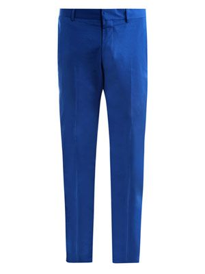 Piece dyed cotton trousers