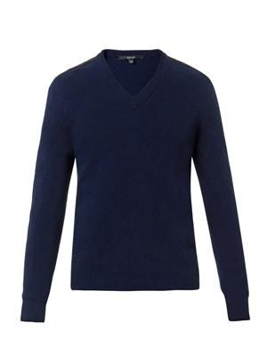 Wool and cashmere-blend V-neck sweater