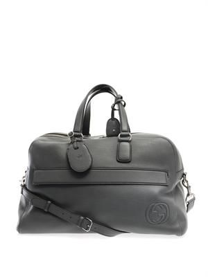 Soho leather duffle carry-on bag