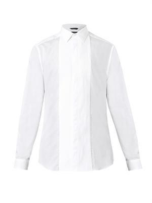 Byard pleated-bib dinner shirt
