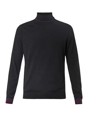 Roll-neck merino-wool sweater