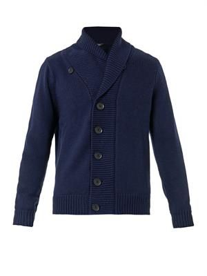 Chunky-knit merino-wool cardigan