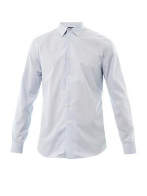 Woven-square cotton shirt