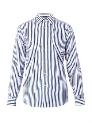 Byard striped double-cuff shirt