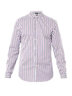 Byard striped double-cuff shirt