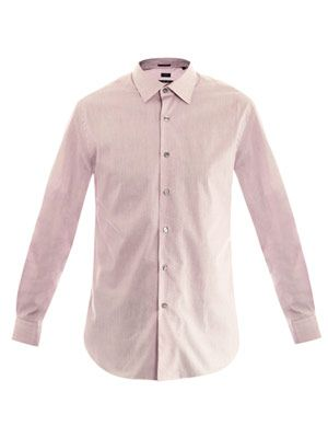 Micro gingham cotton shirt