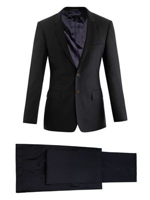 Floral slim-fit suit